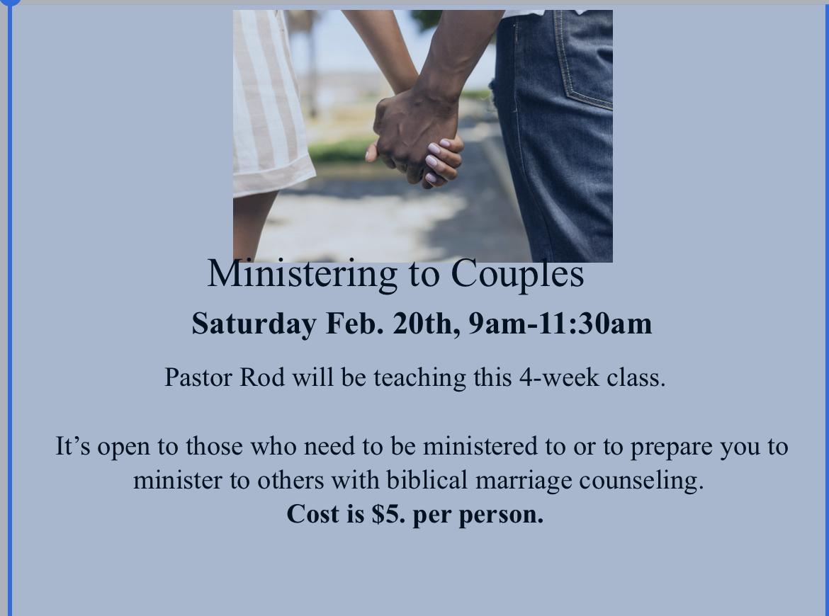MINISTERING TO COUPLES